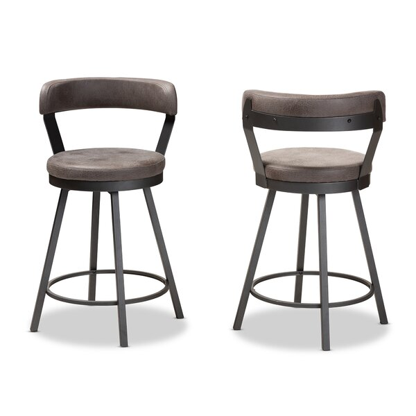 Flint 32 Swivel Bar Stool (Set of 2) by Williston Forge