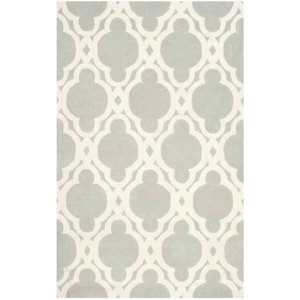Wilkin Hand-Woven Wool Gray/Ivory Area Rug by Wrought Studio