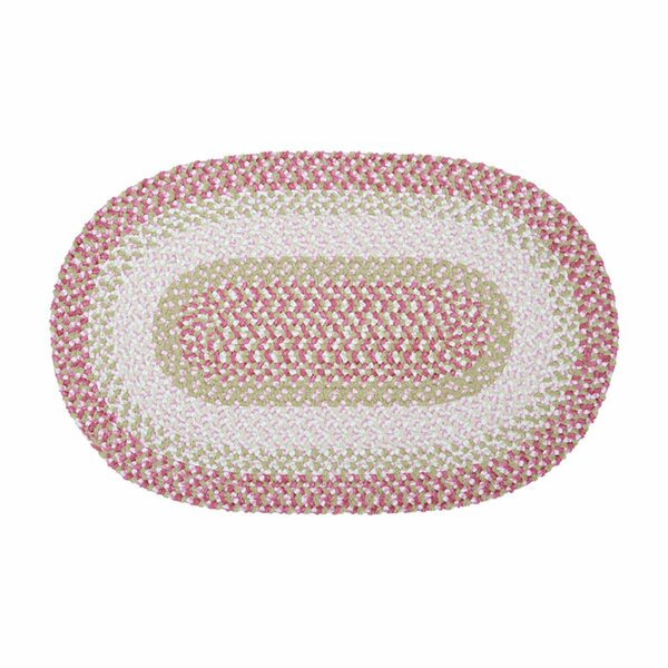 Tanya Tea Party  Hand-Braided Pink Area Rug by Viv + Rae
