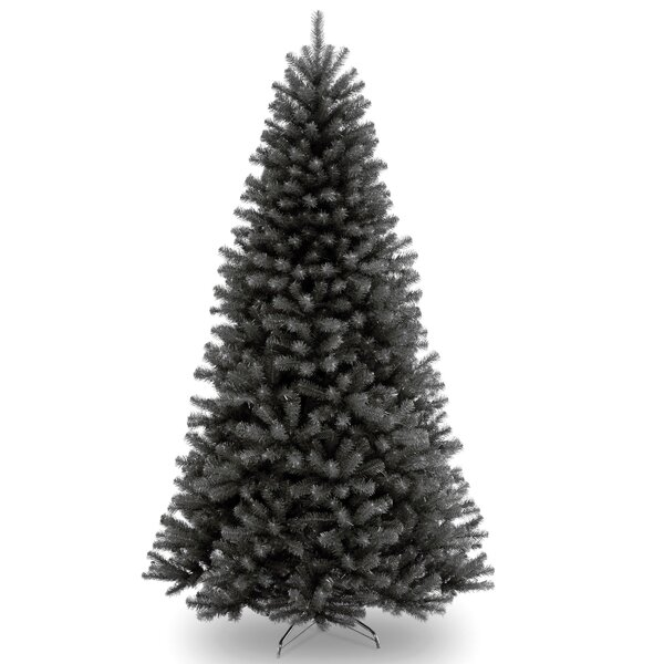 North Valley  Black Spruce Artificial Christmas Tree with Stand by Everly Quinn
