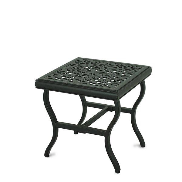 Schaffer Aluminum Side Table by Fleur De Lis Living