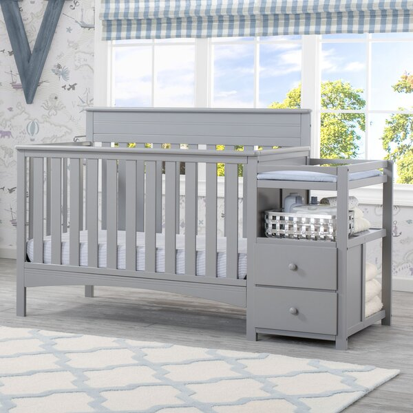 Presley 3-in-1 Convertible Crib and Changer by Del