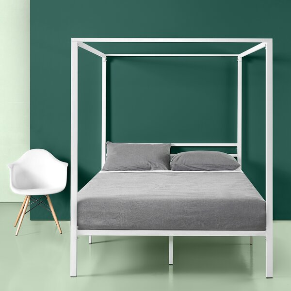 Hubbert Metal Framed Canopy Bed Frame by Ivy Bronx