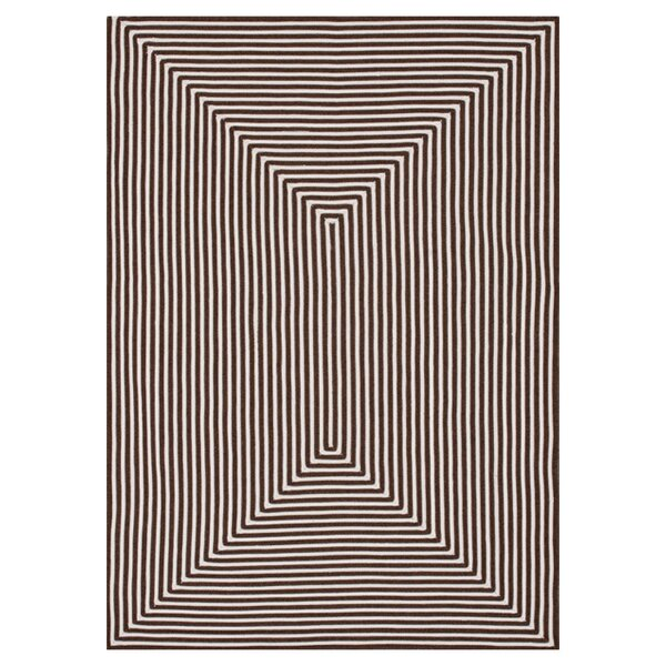 Kircher Hand-Woven Brown Indoor/Outdoor Area Rug by Charlton Home