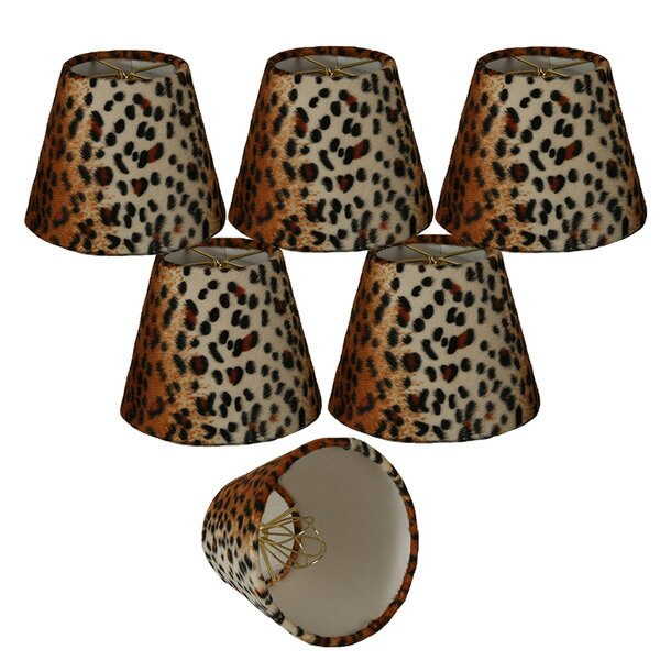 5 Faux Fur Empire Candelabra Shade (Set of 6) by Royal Designs