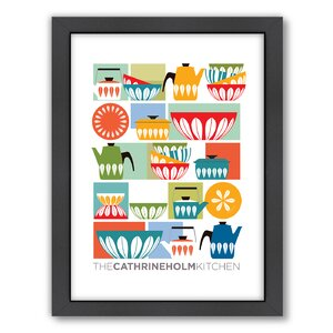 Visual Philosophy Cathrineholm Kitchen Framed Graphic Art by Americanflat