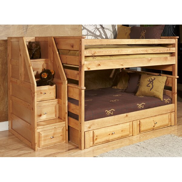 Allaroe Full Over Full Bunk with Stairway Chest and Storage by Harriet Bee