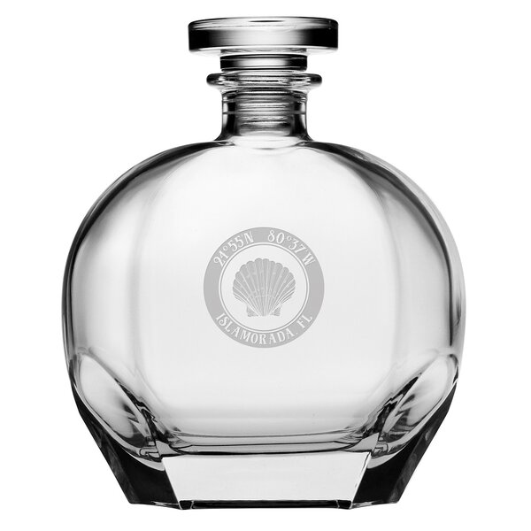 Kerrigan Seashell 23.75 oz. Decanter by Rosecliff Heights