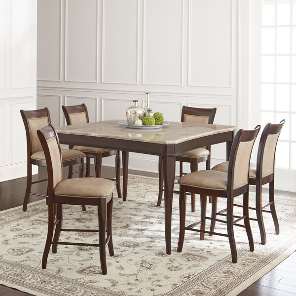 Swenson 7 Piece Counter Height Dining Set by Darby Home Co