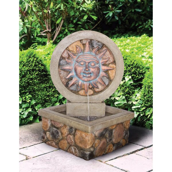 Resin Sculptural Fountain with LED Light by Wildon Home ®
