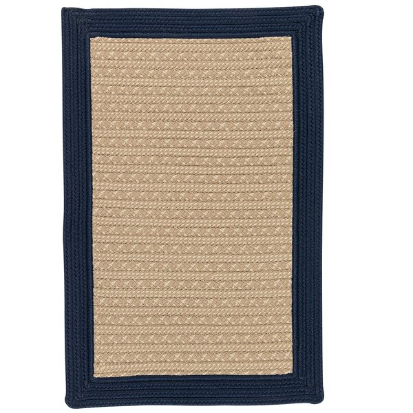 Dartmouth Hand-Woven Navy Indoor/Outdoor Area Rug by Breakwater Bay