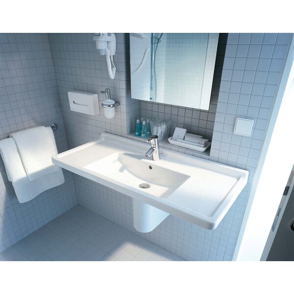 Starck 3 Ceramic 42 Wall Mount Bathroom Sink with Overflow by Duravit