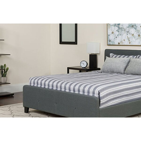 Octavia Tufted King Upholstered Platform Bed with Mattress by Winston Porter