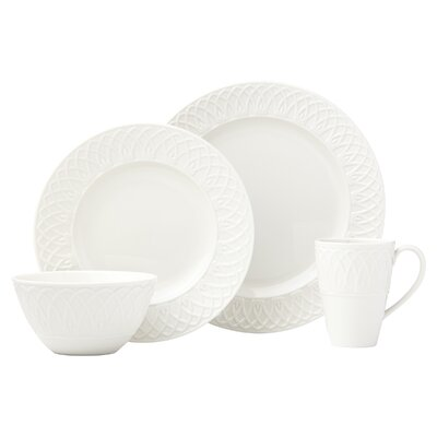 British Colonial Carved White 4 Piece Place Setting Service for 1  sc 1 st  Wayfair & Cuisinart Marne 16 Piece Dinnerware Set Service for 4 u0026 Reviews ...