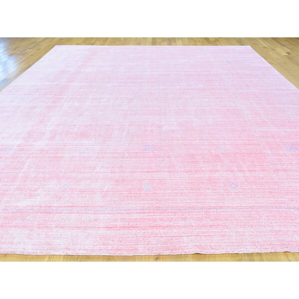 One-of-a-Kind Becker Handwoven Pink Wool Area Rug by Isabelline