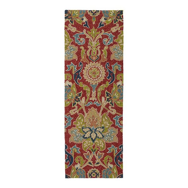 Hanner Floral And Plants Red Indoor/Outdoor Area Rug by Charlton Home