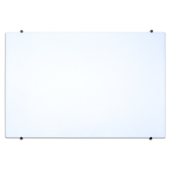 Wall Mounted Magnetic Glass Board by Luxor