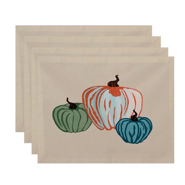 Miller Hand Towel Pumpkin Spice Geometric Print Placemat (Set of 4) by Alcott Hill