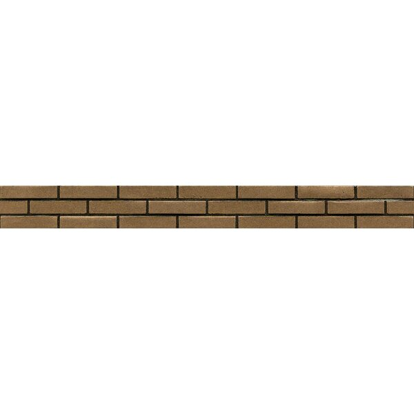 Ambiance Stagg Brick Liner 1-1/4 x 12 Resin Tile in Bronze by Bedrosians