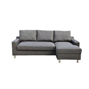 Lainey Sectional Sofabed Grey-Right Facing  sc 1 st  Wayfair.com : sofa bed chaise lounge - Sectionals, Sofas & Couches