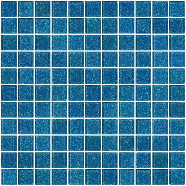 1 x 1 Glass Mosaic Tile in Denim Blue by Susan Jablon