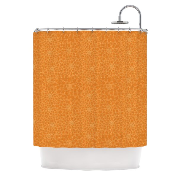 Flowers by Julia Grifol Shower Curtain by East Urban Home