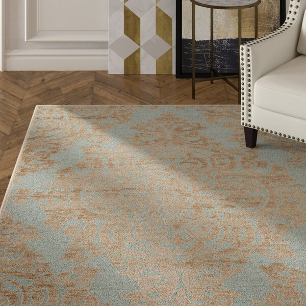 Mitchum Beige / Blue Area Rug by House of Hampton