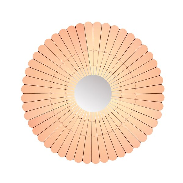 Round Copper Wall Mirror by Bay Isle Home