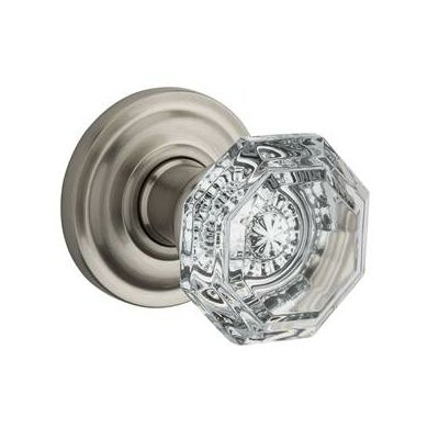 Baldwin Crystal Privacy Door Knob with Traditional Arch Rose ...