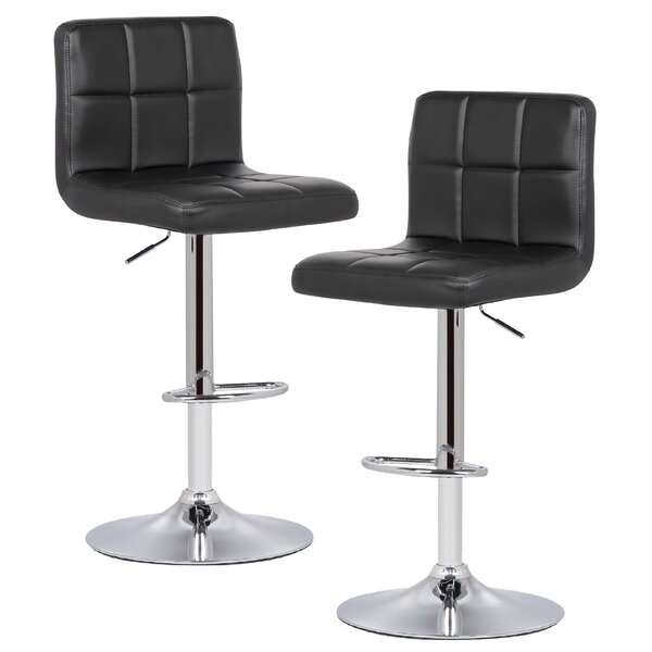 Winchell Adjustable Height Swivel Bar Stool (Set of 2) by Orren Ellis