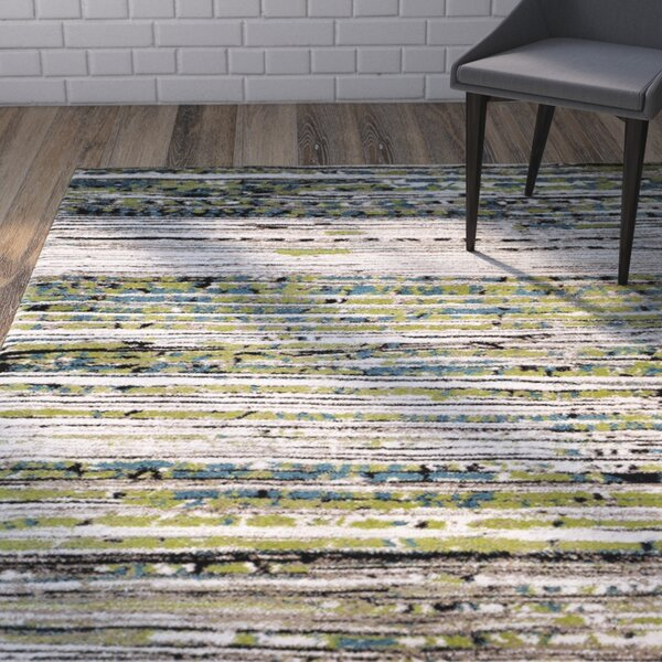 Sevastopol Cream/Green Area Rug by Wrought Studio