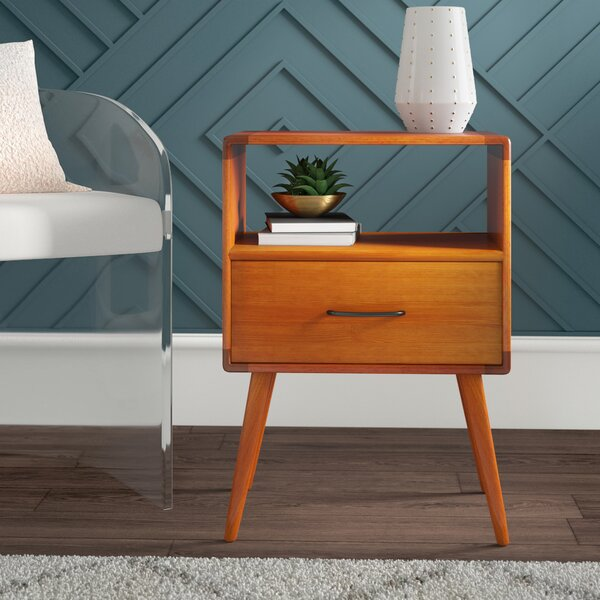Collado End Table with Storage by Mercury Row