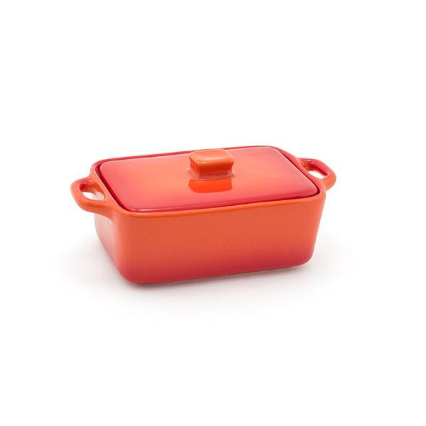 Kiln® Ovenware 10 Oz. Rectangle Ovenware Dish with Lid (Set of 4) by Front Of The House