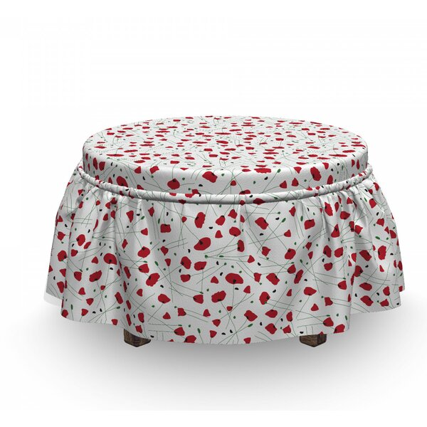 Floral Spring Nature Ottoman Slipcover (Set Of 2) By East Urban Home