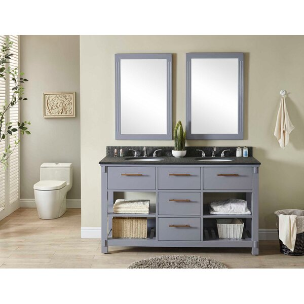 Greenwald 61 Double Bathroom Vanity Set by Wrought Studio