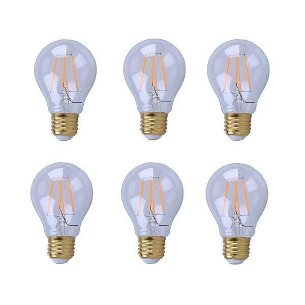 5W E26/Medium LED Vintage Filament Light Bulb (Set of 6) by Elegant Lighting