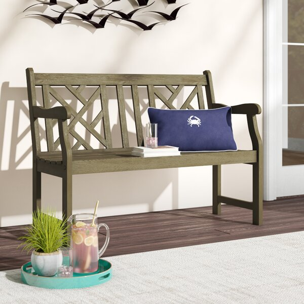 Aranmore Wooden Garden Bench by Beachcrest Home