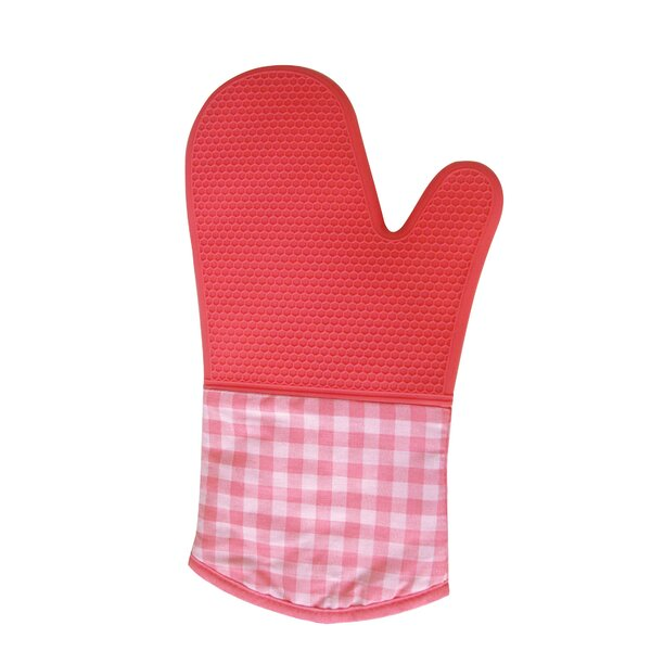 Cool Touch Silicone Checkered Oven Mitt (Set of 2) by MyCuisina