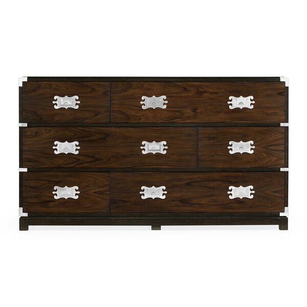 Campaign Large Style 6 Drawers Standard Dresser by Jonathan Charles Fine Furniture
