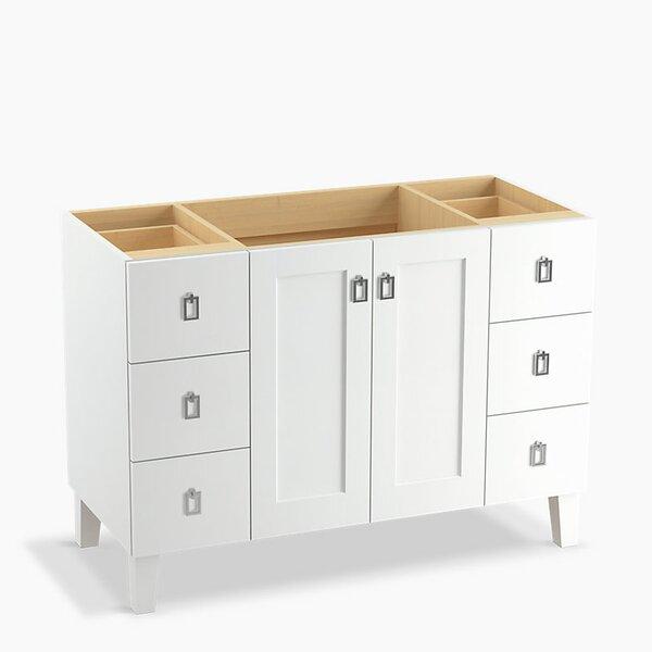 Poplin™ 48 Vanity with Furniture Legs, 2 Doors and 6 Drawers by Kohler