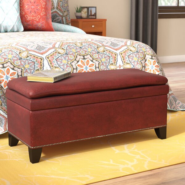 Edmundo Upholstered Storage Bench by World Menagerie