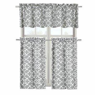 Emsley 3 Piece Kitchen Curtain Set