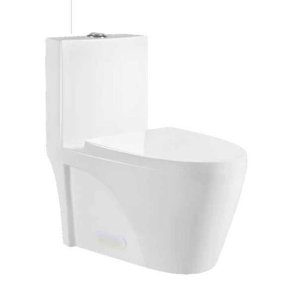 Eco Flush 1.28 GPF Elongated One Piece Toilet by Luxe Bathroom Cabinetry Vanities