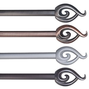 Flame Single Curtain Rod & Hardware Set