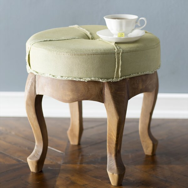 Whitehall Rustic Elegance Sage Round Tufted Stool by Laurel Foundry Modern Farmhouse