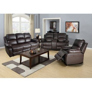 Harton 3 Piece Faux Leather Reclining Living Room Set by Red Barrel Studio®