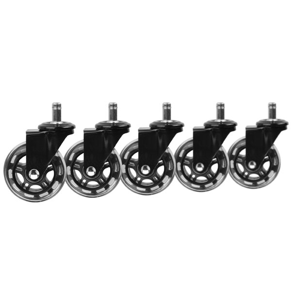 Rollerblade Office Chair Casters (Set of 5) by Slipstick