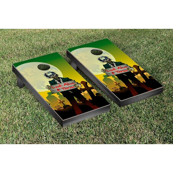 Look Alive and Throw Zombie Themed Cornhole Boards Game Set by Victory Tailgate