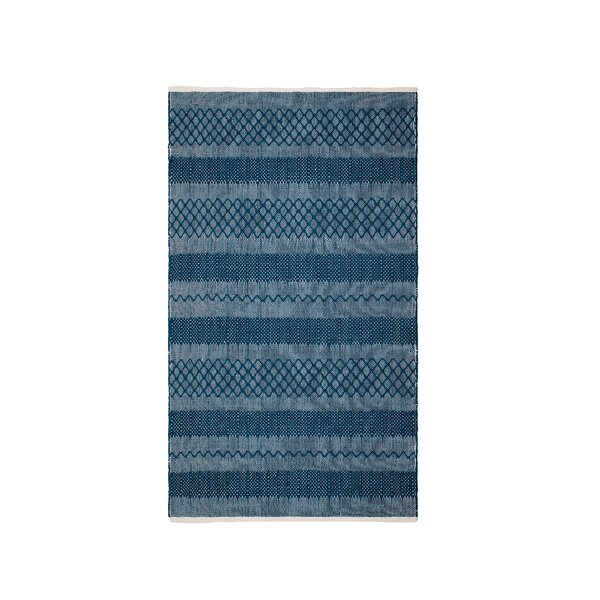 Marciano Hand-Woven Teal Indoor/Outdoor Area Rug by Gracie Oaks
