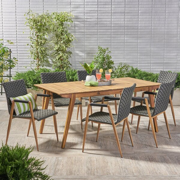Conde Outdoor 7 Piece Dining Set by Ivy Bronx